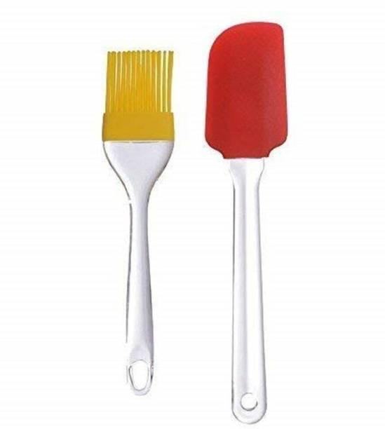 Avisa Global Silicone Spatula and Brush Set Cake Mixer, Cooking, Baking, Glazing Silicone Flat Pastry Brush