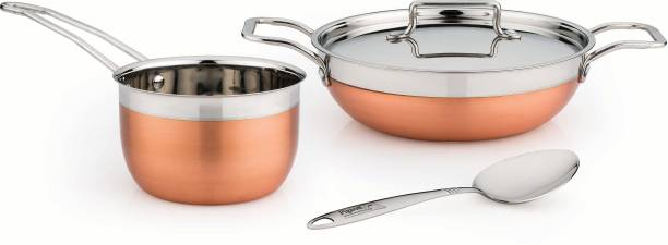 Pigeon Neo 4pcs Cookware Set (KADAI 1000ML+LID+S.P 1000ML+CUTE LADDLE) Cookware Set