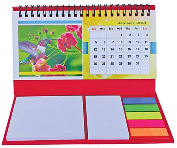 DALUCI Note Pad/Memo Book with Sticky Notes Cardboard Folio Case & Clip Holder with Pen for Gifting A4 Notebook Soft Bound 50 Pages