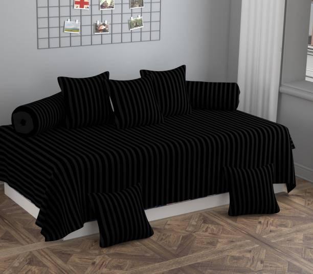 Apala Polycotton Striped Diwan Set