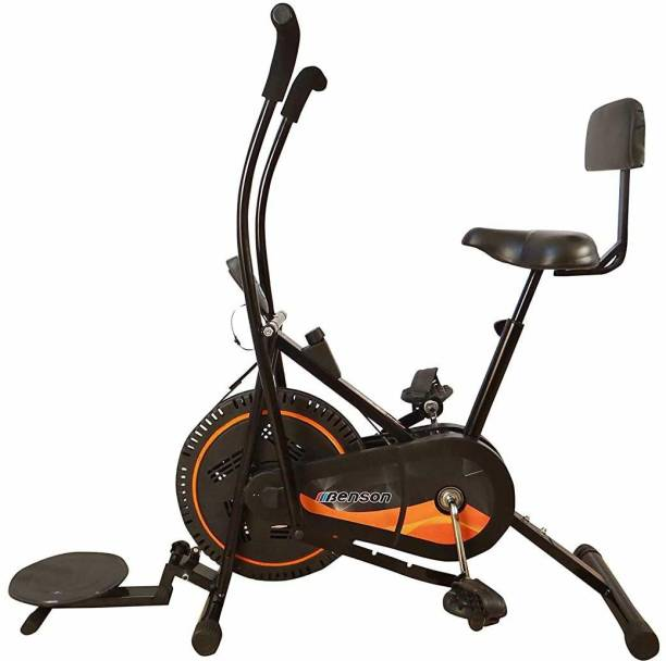 Bhatia Sports Air Bike Exercise Cycle with back support and moving handles Dual-Action Stationary Exercise Bike