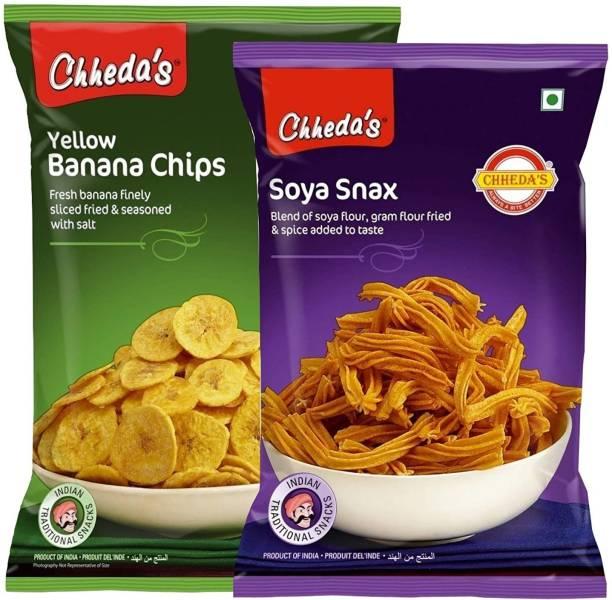 Chheda's Yellow Banana Chips and SOYA Snax Combo Combo