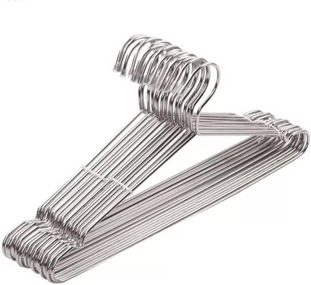 Flipkart SmartBuy Space Saving Stainless Steel hangers with Anti-Slip Groove Steel Pack of 10 Hangers