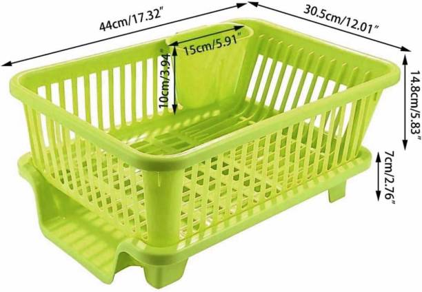 Samarth 3 in 1 Large Sink Set Dish Rack Drainer Drying Rack Washing Basket with Tray for Kitchen, Dish Rack Organizers, Utensils Tools Cutlery Dish Drainer Kitchen Rack