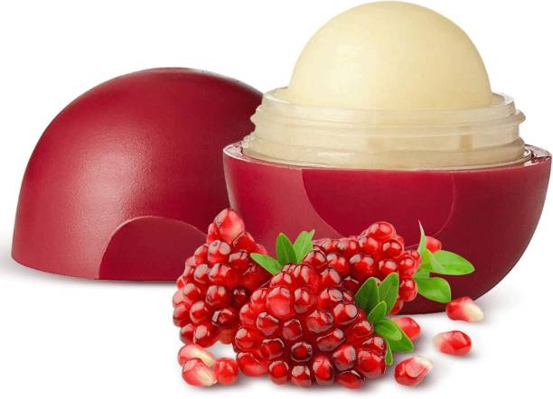 Organic Harvest Pomegranate Flavour Non Colored Lip Balm Enriched With Lanoin, For Dark Lips to Lighten, Lip Care for Dry & Chapped Lips, 100% Organic, Paraben & Sulphate Free For Girls & Women Pomegranate