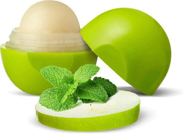 Organic Harvest Green Apple Flavour Non Colored Lip Balm Enriched With Peppermint Oil & Vitamin E, For Dark Lips to Lighten, Lip Care for Dry & Chapped Lips, 100% Organic, Paraben & Sulphate Free For Girls & Women Green Apple