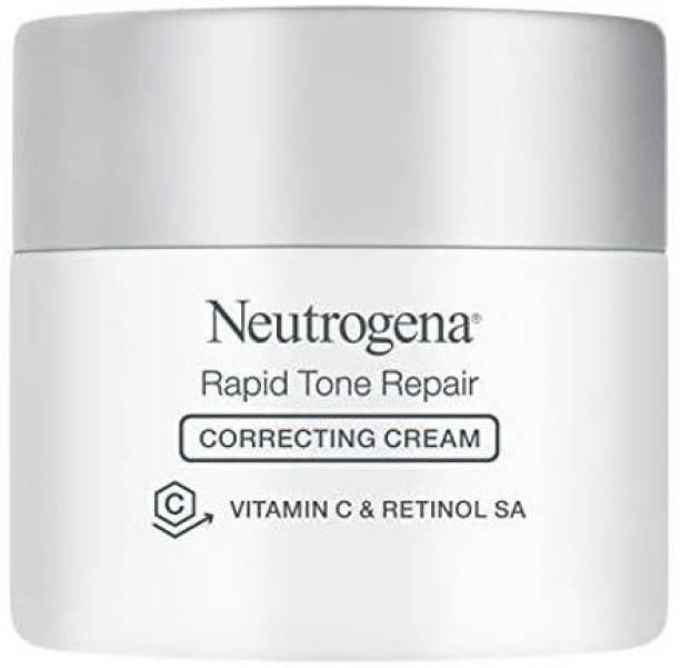 NEUTROGENA Rapid Tone Repair Vitamin C Brightening Correcting Cream, Tone Evening Face, Neck, and Chest Cream with Vitamin C, Retin