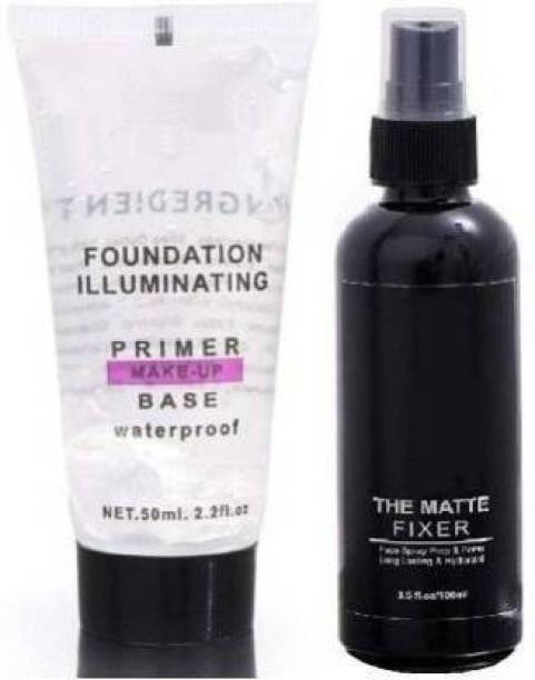 CAZO THE MAKEUP FIXER AND PRIMER TUBE (TRANSPARENT) 50 ML Primer - 150 ml (TRANSPARENT) Primer  - 150 ml