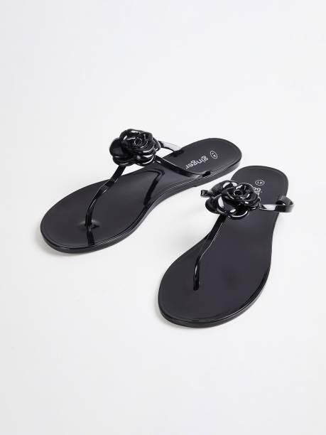 GINGER Women Black Flats