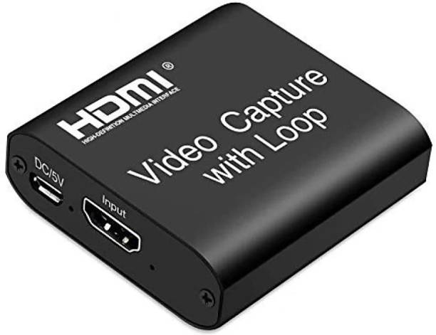 ROTO Video Capture Card with Loop Out, 4K HD 1080P 60FPS USB 2.0 Capture Card for Live Streaming Broadcasting Video Recording Media Streaming Device