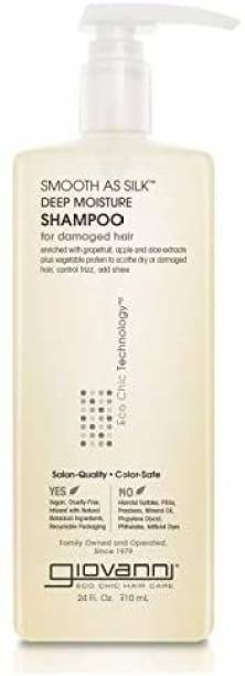 Giovanni Smooth as Silk Deep Moisture Shampoo, 24 oz. Hydrates and Calms Frizz, Detangles, Wash & Go, Curly & Wavy Hair, Sulfate