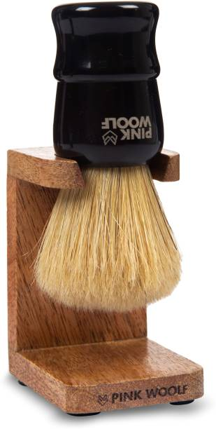Pink Woolf Boar  and  Stand for Bathroom – Rosewood Finish Shaving Brush