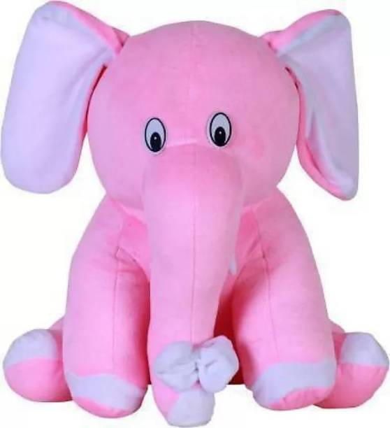 DESTINO ShonnaBabu Soft Plush Pink Sitting Elephant Toy For Valentine Christmas Birthday Anniversary I Love you Teddy Teddy Day Best Gift For Girlfriend Sister Children Babies Your Loved Ones(Teddy Bear)  - 26 cm