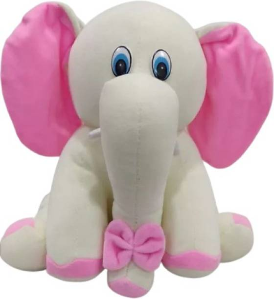 DESTINO ShonnaBabu Soft Plush Cream Sitting Elephant Toy For Valentine Christmas Birthday Anniversary I Love you Teddy Teddy Day Best Gift For Girlfriend Sister Children Babies Your Loved Ones(Teddy Bear)  - 26 cm