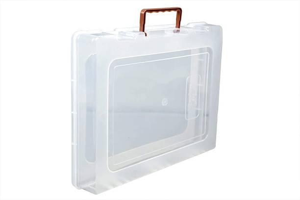 LAKSHMI ENTERPRISE Multipurpose Plastic Storage Boxes With Handle And Lock for Saree, T-Shirt, Laptop, Books, Clothes Organizer Tool Box