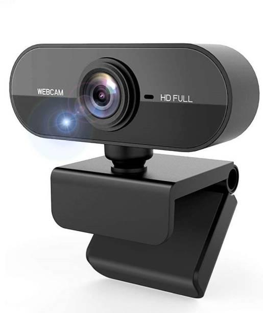 V.T.I Webcam HD Web Camera Built-in HD Microphone USB Plug Web Cam Widescreen Video For Computer PC Laptop  Webcam