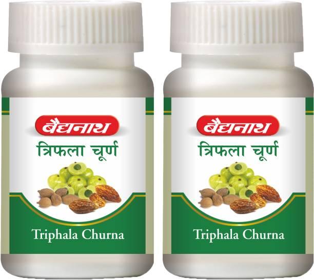 Baidyanath Triphala Churna, Improves Bowel Movement & Indigestion, Constipation and Digestive Disorders | Effective in Tridoshashamak and Eye disorders | Pack of 2