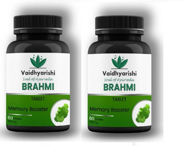 VAIDHYARISHI Brahmi Tablet Memory Booster (750mg) PACK OF 2 each 60 tablets (120 Tablets)