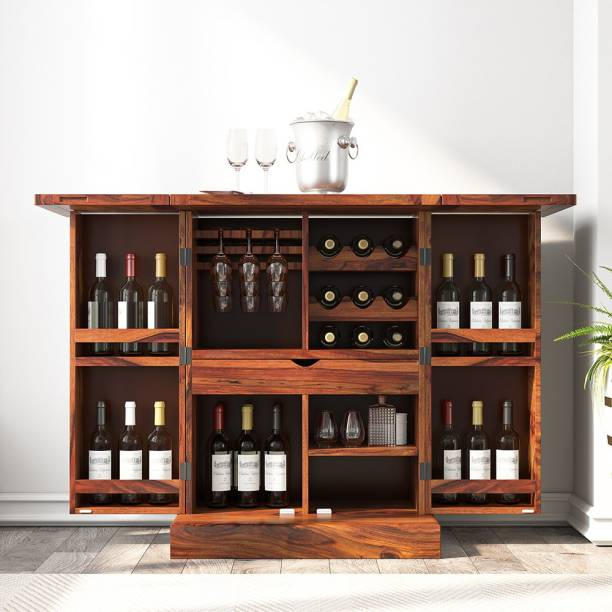 House of Pataudi Solid Wood Bar Cabinet