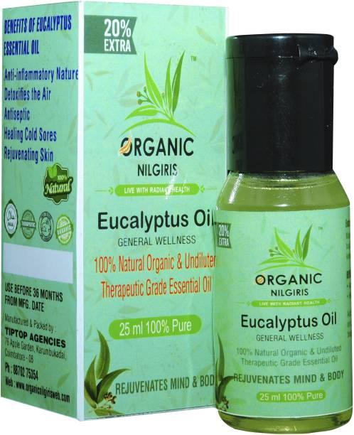 organic nilgiris Eucalyptus Oil 100% Natural Nilgiri thailam, Neelgiri tel for sinus, cold, natural sanitizer, skin & mehandi diffuser, headache