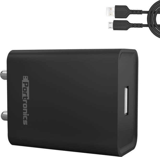 Portronics ADAPTO 62 2.4 A Mobile Charger with Detachable Cable