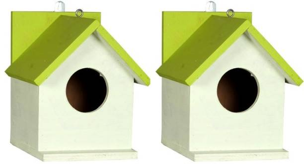 ganga enterprise Bird House Bird Nest For Sparrow And Other Garden Birds Pack Of 2 Bird House