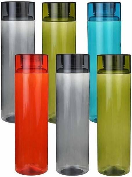 Nilzone Unbreakable 1000 ml Bottle Fridge Water Bottle Set Of 6 1000 ml Bottle 1000 ml Bottle