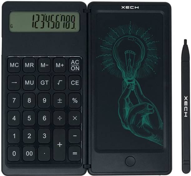 xech X-427 12 Digit Calculator with LCD Rough Pad DigiFold Basic  Calculator