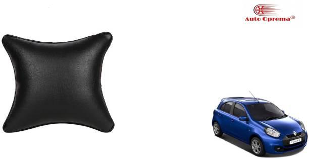 Auto Oprema Black Leather Car Pillow Cushion for Bajaj