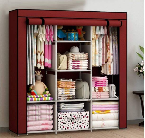 Ebee Micro Fiber Collapsible Wardrobe