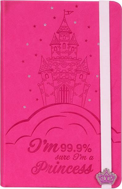 doodle Princess Paradise Diary Notebook for Girls, Gifts for Girls, Size A5, Ruled Pages, 80 Gsm, 200 Pages A5 Diary Ruled 200 Pages