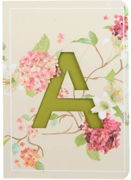 doodle Initial A lasercut Notebook, B6 (6.69 X 4.72 X 0.5 Inches), 200 Pages, 80 GSM, Diary for Girls B6 Notebook Ruled 192 Pages