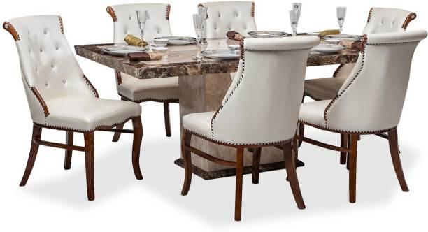 Durian SIBERIAN DINING SET Stone 6 Seater Dining Set