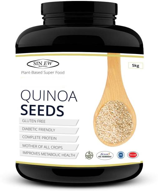 SINEW NUTRITION Quinoa Seeds 5 kg - Rich In Protien & Fiber | Diabetic Friendly | Aids Weight Management | Gluten Free | Vegetarian | Non Gmo