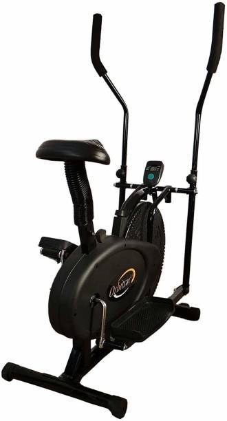 Bhatia Sports Exercise Bicycle with Moving Handles and Back Support Stationary Exercise Bike Upright Stationary Exercise Bike