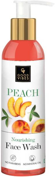 GOOD VIBES Peach  for Women Face Wash