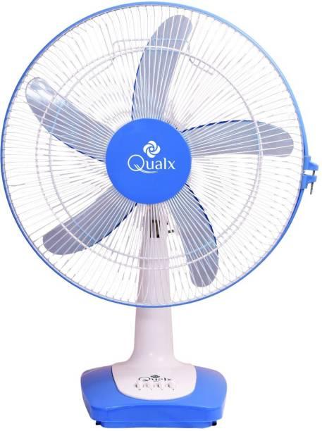 QUALX WIND TURBO Anti-Dust High Speed 400 mm Ultra High Speed 5 Blade Table Fan