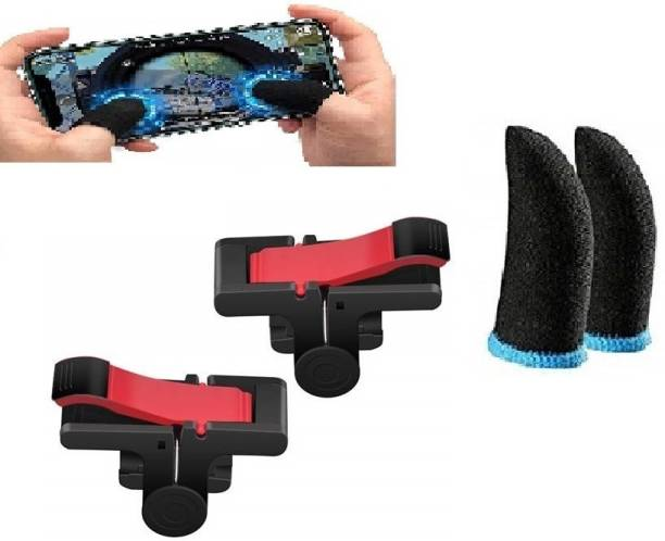 Filiz Combo pack of touch smoothly run finger sleeve cap and fastest firing sensored Trigger for sweat breathable full touch screen to Mobile pubg/Call off duty/free fire game trigger battle royal sensitive shoot and aim supports & Suitable for all types android and IOS Mobile -1 pair  Gaming Accessory Kit