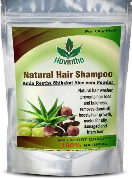 Havintha Natural Amla Reetha Shikakai and Aloevera Powder Shampoo for Oily Hair