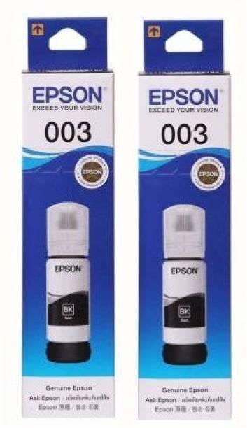 Epson Epson 003 /001Ink (pack of 2 )for Epson L3110 , L3150 , L5190 , L1110 , L4150 , L6170 , L4160 , L6190 , L6160 Black Ink Bottle Black Ink Bottle