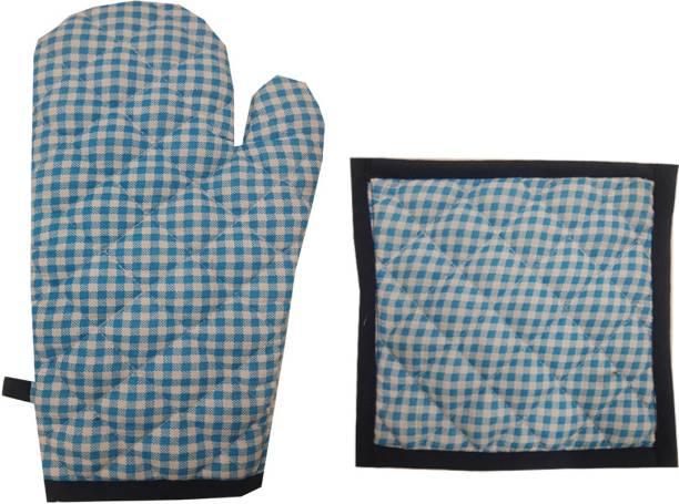 SSDN Blue Cotton Kitchen Linen Set