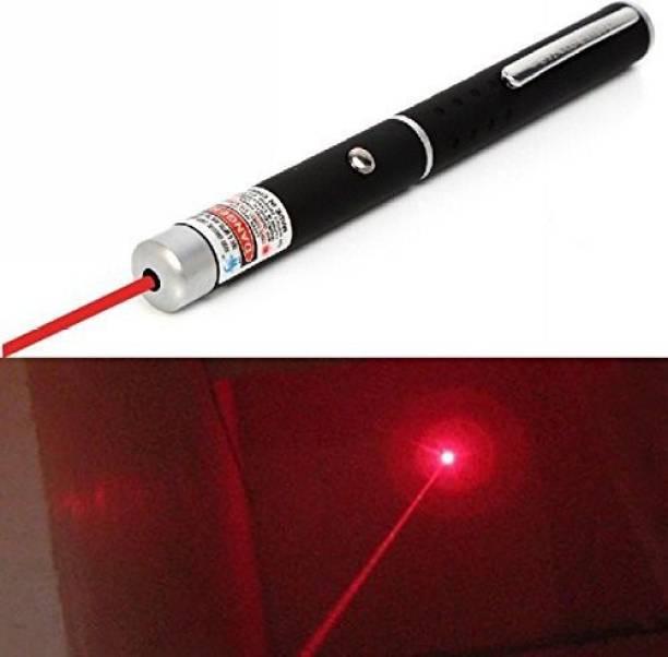 Iktu 5mW Red Laser Pointer Pen - Black (2 x AAA)