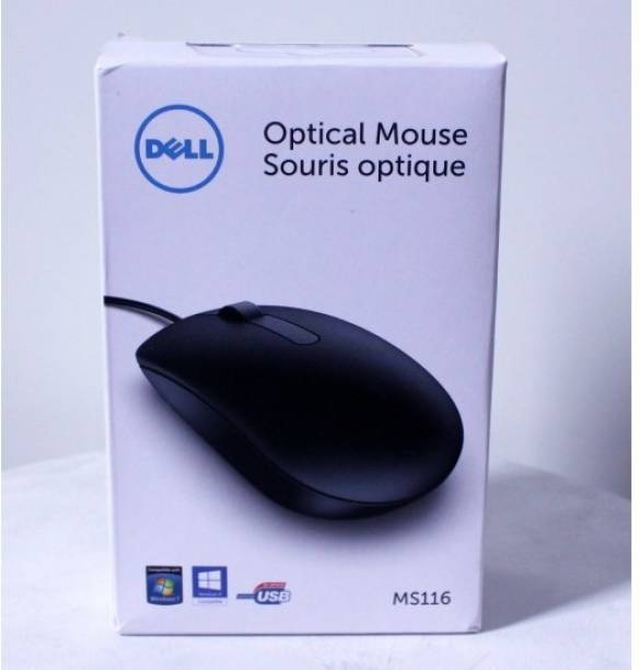 DELL MOUSE USB MS116 Wired Optical Mouse