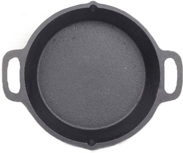 70'S KITCHEN Double Handle Skillet Pan for Cooking - Pre-Seasoned, 10Inch NA Pan 26.5 cm diameter