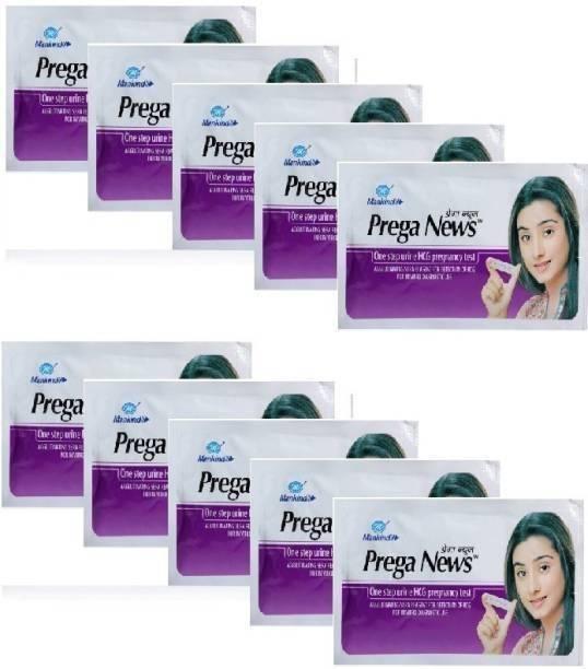Mankind Prega News pack of 10 (One step Urine HCG pregnancy Test) Digital Pregnancy Test Kit