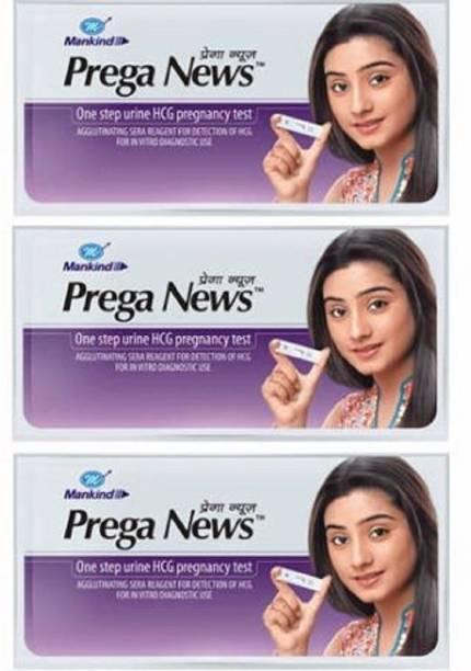 Mankind Prega news combo of 3 Pregnancy Test Kit