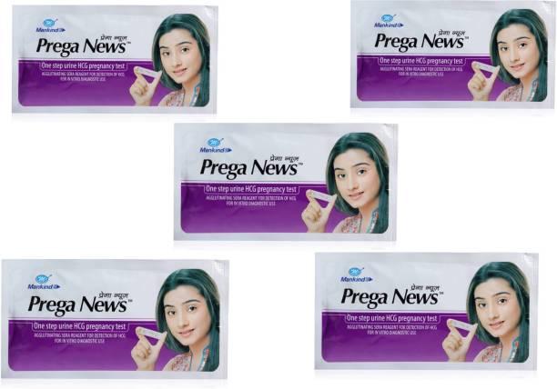 Mankind Prega news pregnancy tester combo of 5 Pregnancy Test Kit