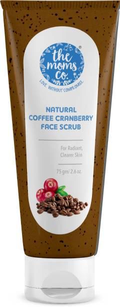 The Moms Co. Natural Cranberry Coffee Exfoliating Face Scrub I Reduce Tan & Blackheads I Oily/Normal Skin Scrub