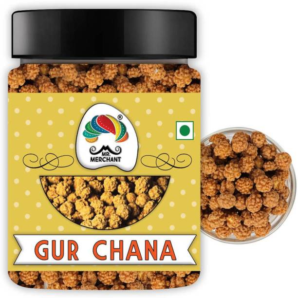 Mr. Merchant Gur Chana   Deliciously Roasted Chana Coated in Jaggery   Immunity Booster