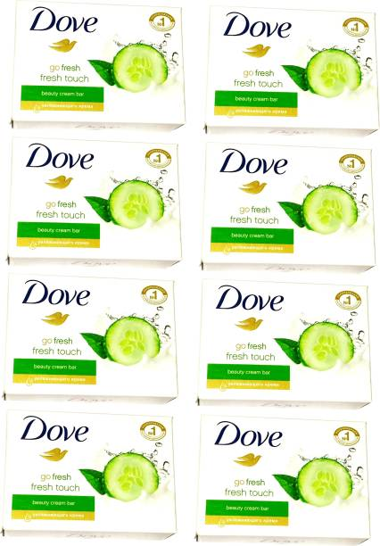 DOVE Imported (Made in Germany) Go Fresh Touch Beauty Cream Bar, 135g each (1080 g, Pack of 8) (1080 g, Pack of 8)